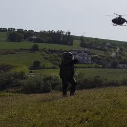 Bombtech and air ambulance